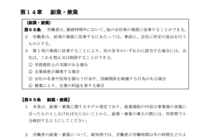 モデル就業規則(平成31年3月)